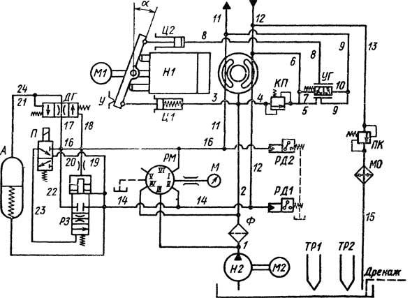 Гидравлическая схема станции