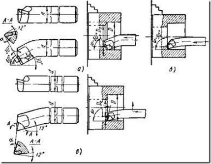 Расточной резец схема